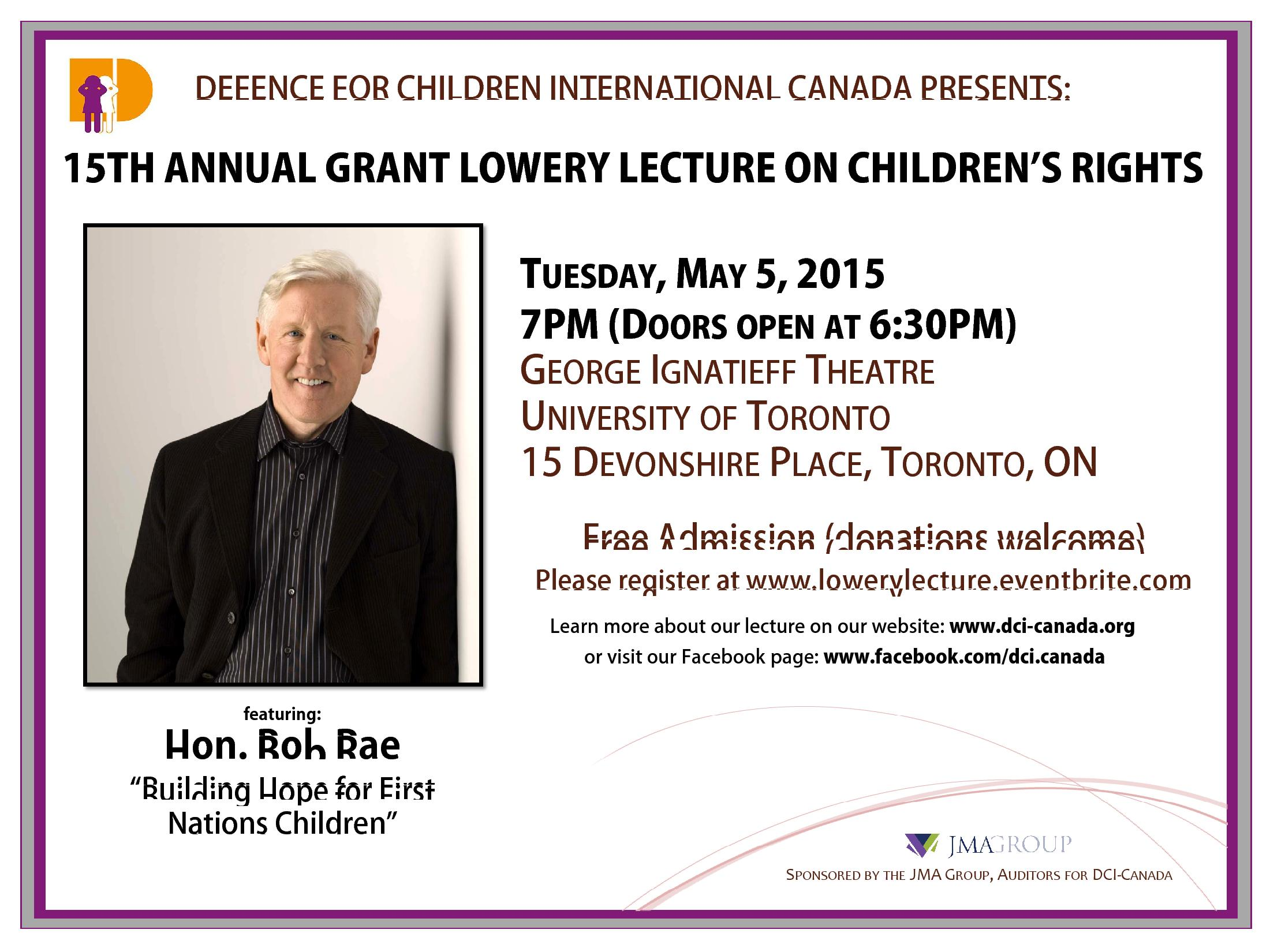 Bob Rae- Building Hope for First Nation's Children