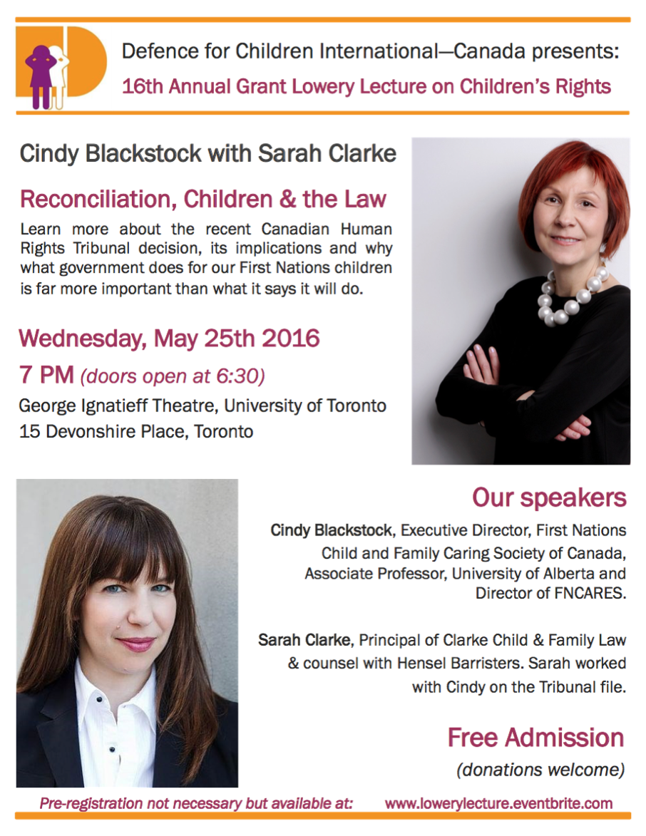16th Annual Grant Lowery Lecture on Children's Rights